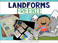 Teaching Landforms:  Hands-on activity ideas for kids, no-prep engaging landform resources, and a FREEBIE landform activity.