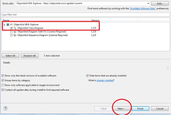 IDE Eclipse finalizando instalação do plugin
