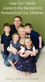 How our family came to the decision to homeschool our children