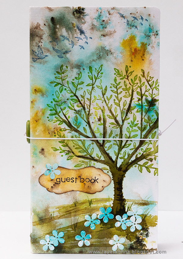 Layers of ink - DIY Guestbook Tutorial by Anna-Karin Evaldsson