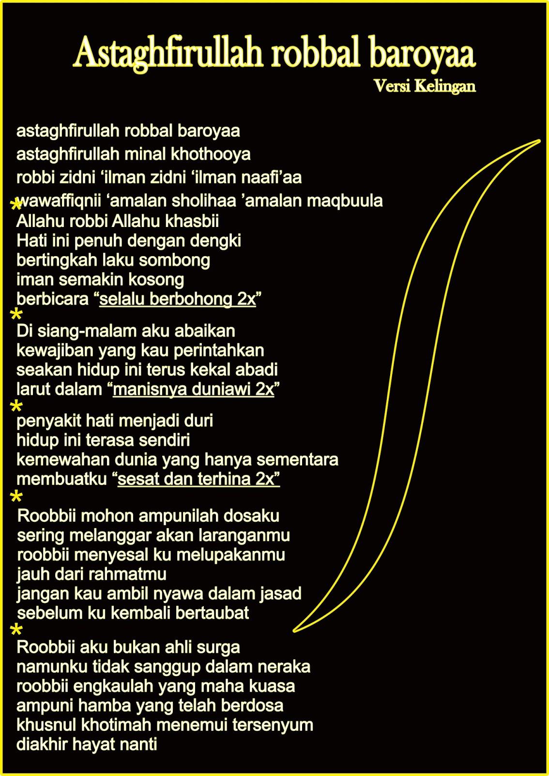 Lirik Lagu Astaghfirullah (Versi Kelangan) - Lagu Islami