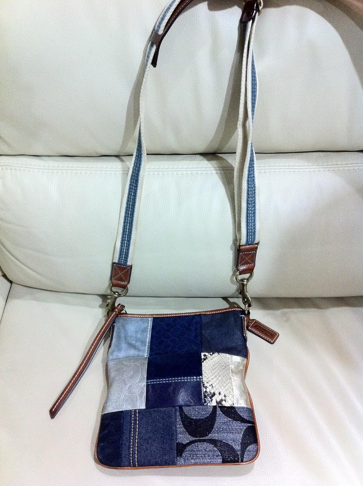 Bagscapade: Authentic COACH Denim Patchwork Sling Bag