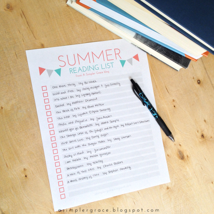 5 Summer Book Recommendations & Free Summer Reading List Printable - A Simpler Grace