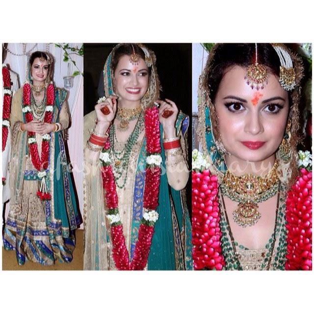 dia mirza, in ritu kumar,   bollywood, beauty, style, fashion,