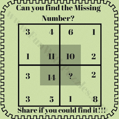 Can you find the missing numbers puzzle