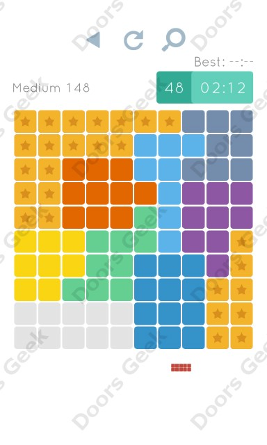 Cheats, Walkthrough for Blocks and Shapes Medium Level 148