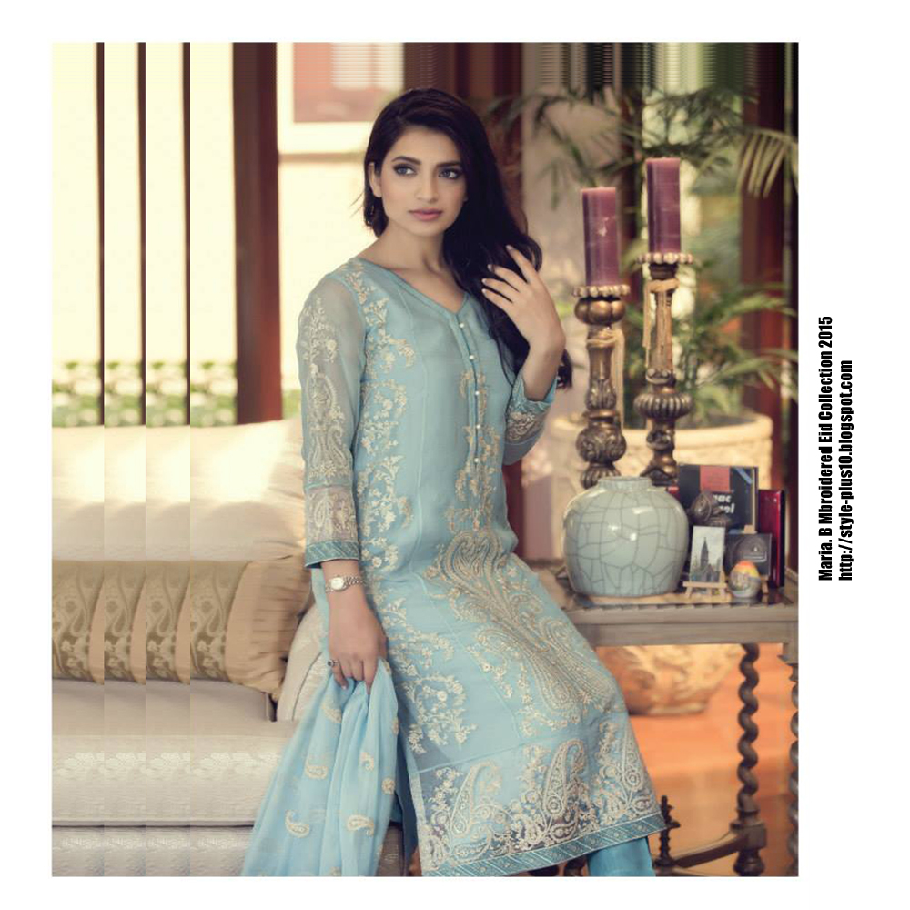 71da13d991 Beautifully Designed Fancy Dress From Maria. B Mbroidered Eid Collection  2015