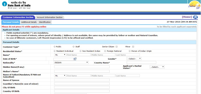 How To Fill up SBI Account Opening Form-SBI Account Opening Online ...
