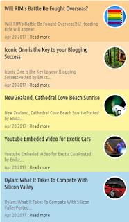 Cara Membuat Recent Post Keren di Blogspot