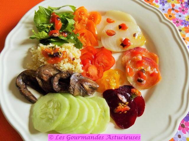 Comment faire une belle assiette colorée ?