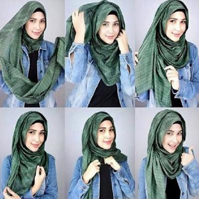 Tutorial Memakai Jilbab Pashmina Kreasi Terbaru 2016