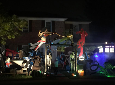 Superhero Halloween display