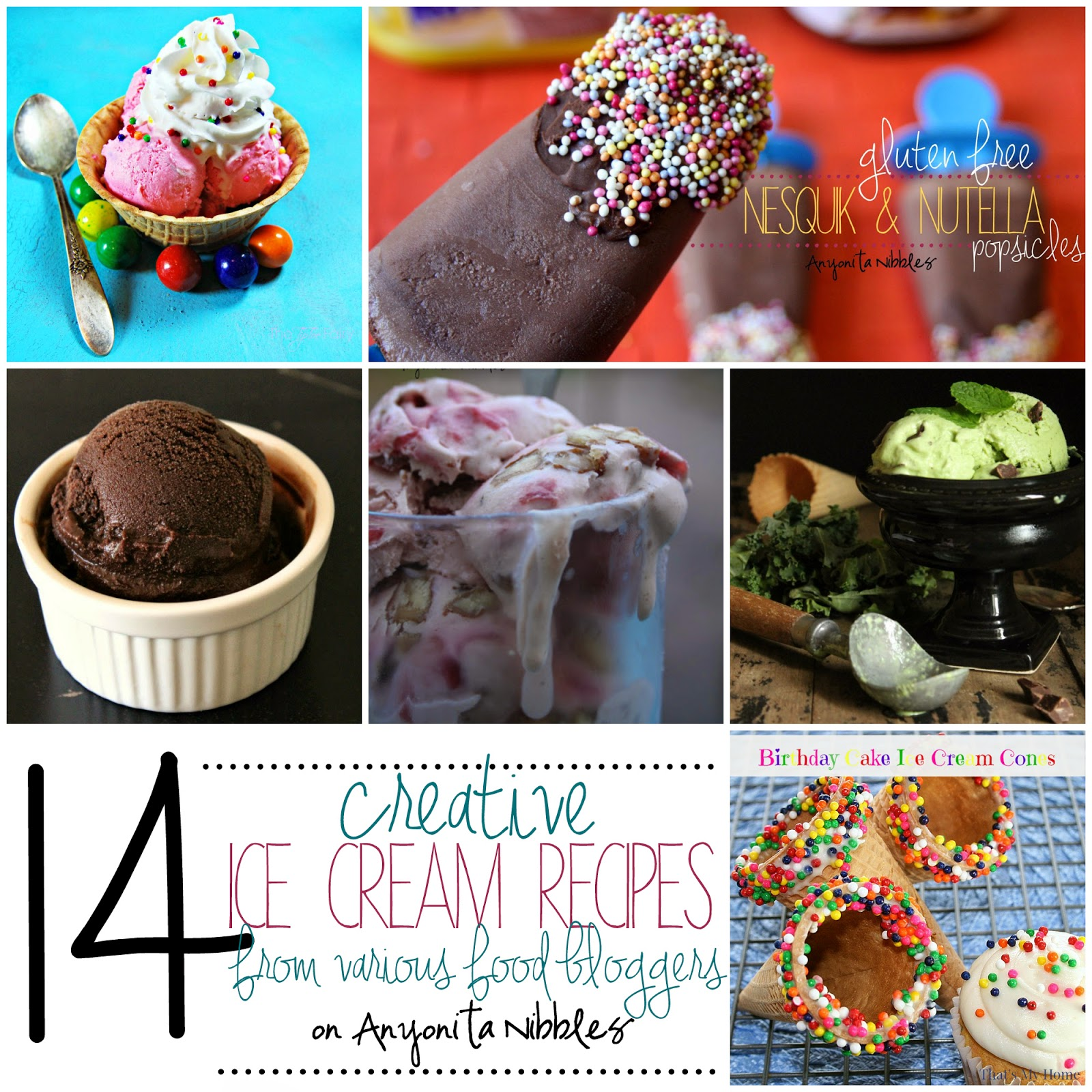 14 Creative Ice Cream Recipes Roundup on Anyonita Nibbles