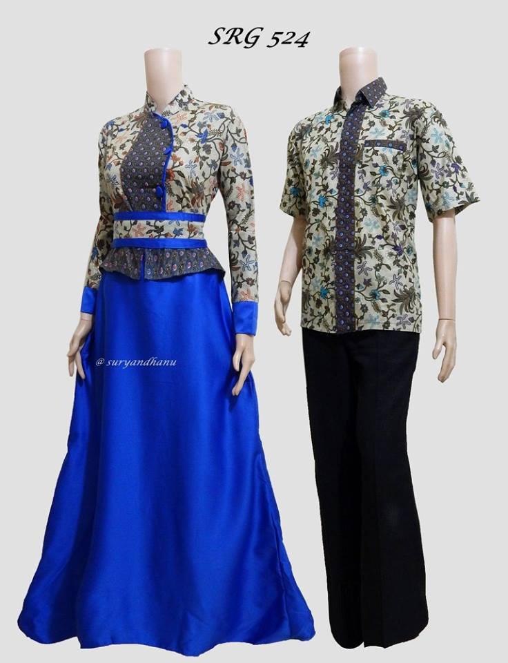 Baju Batik Gamis Couple Terbaru 2017 Srg 524