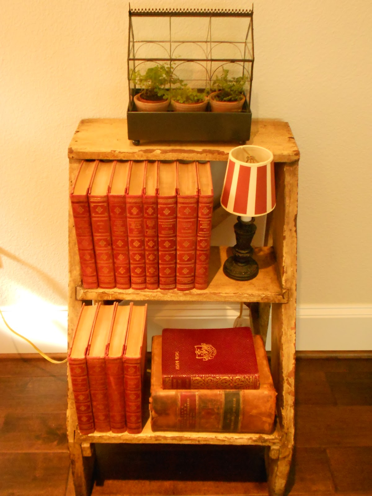Wooden Step Stool Bedside: My Faux French Chateau: Lovely Little Vintage Wooden Step