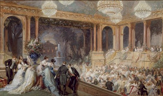 Fête officielle au palais des Tuileries pendant l'Exposition Universelle de 1867