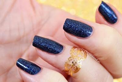 Sun Dazzler Glaze Glitter Lambs Nail Polish Swatched By @LacqueredLori