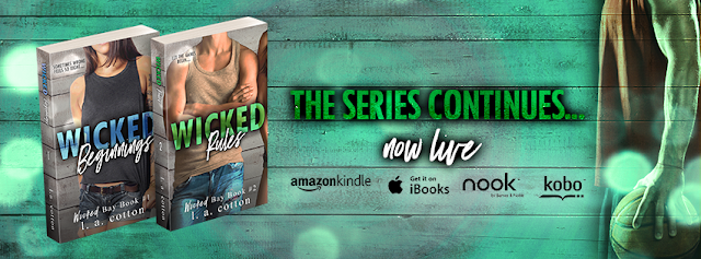 [New Release] WICKED RULES by LA Cotton @authorlacotton #Review #TheUnratedBookshelf