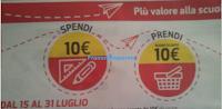 Logo Coop : Spendi & Riprendi 10 € con i prodotti di cartoleria