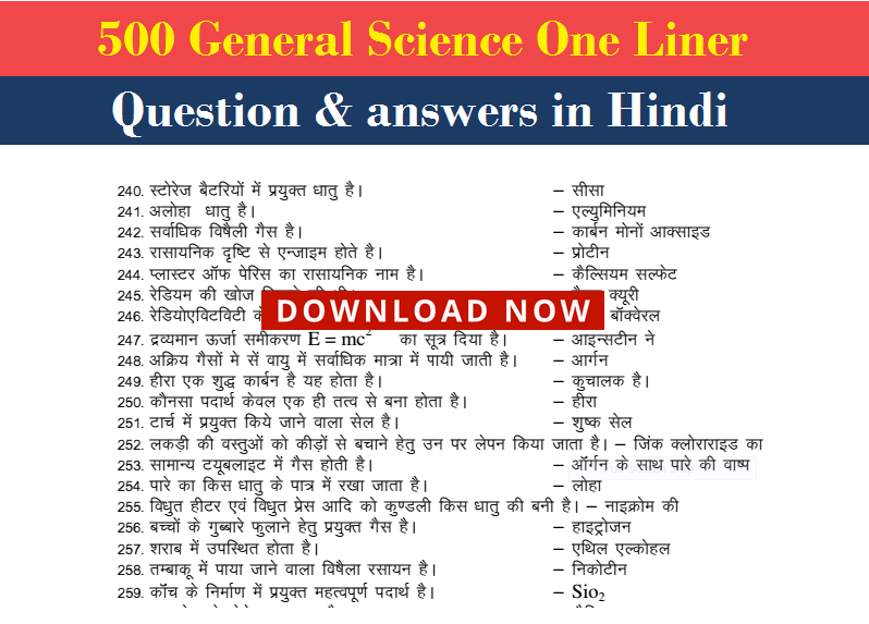 General Science Pdf In Hindi