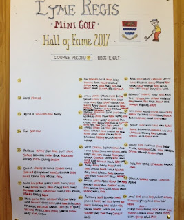 The Lyme Regis Mini Golf Hall of Fame 2017