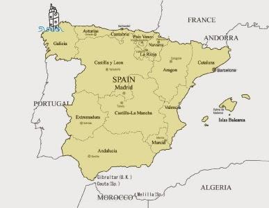 Spagna Galizia Cartina.A Coruna Dove Sei Buongiorno A Coruna