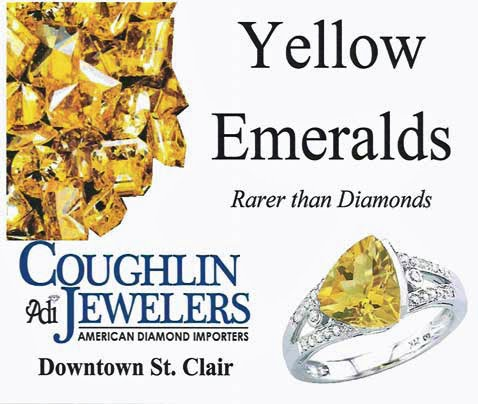 gem yellow emerald cushion un cut sapphire precious heated