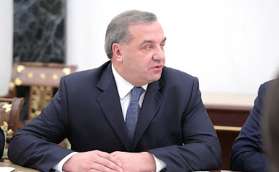 Vladimir Puchkov at the meeting with the President Vladimir Putin.