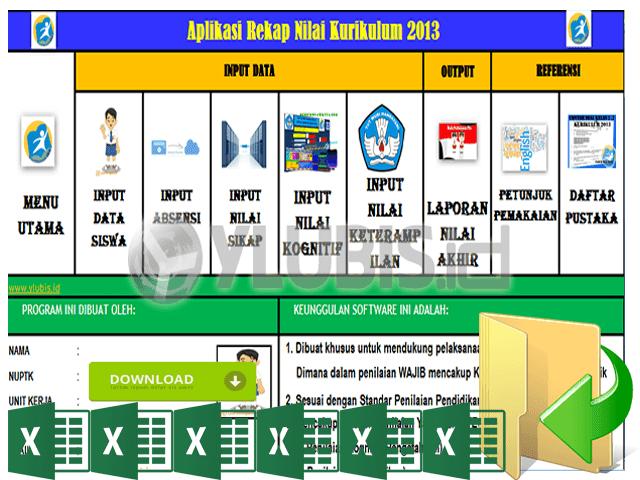 Contoh Rekap Nilai Kurikulum 2013 SD,SMP,SMA Format Excel | Dokumen File Guru