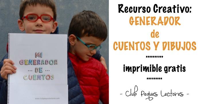 recurso creatividad niños: generador cuentos y dibujos,  con imprimible