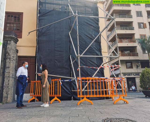 El Ayuntamiento comienza la obra para la restauración del emblemático cartel de Nitrato de Chile
