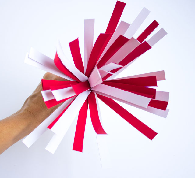 Paper fireworks from fringed card stock!