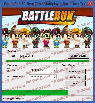 Download Hack Cheats Trainer Tool for Android iOS — Battle Run S2