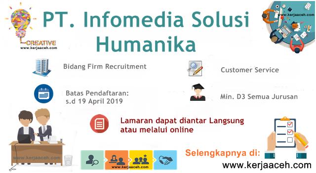 Lowongan Kerja Aceh Terbaru 2019 Customer Service Gaji 2.8 s.d 3.6 Juta di Area Aceh