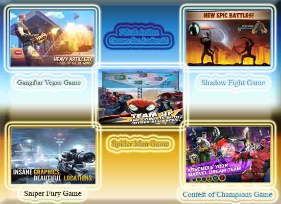 5 Action Games Android