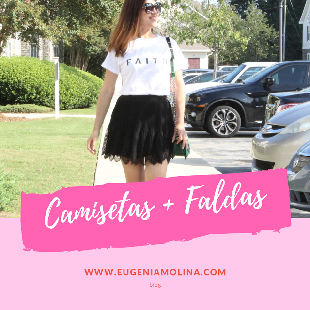 how to style tshirts with skirts
