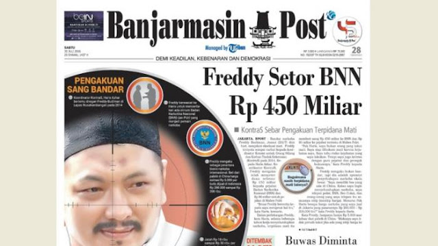 Pengakuan Freddy Bikin Geger, Setor BNN Rp 450 Miliar
