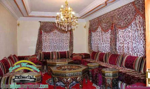 Décoration par un salon marocain de toutes les figures