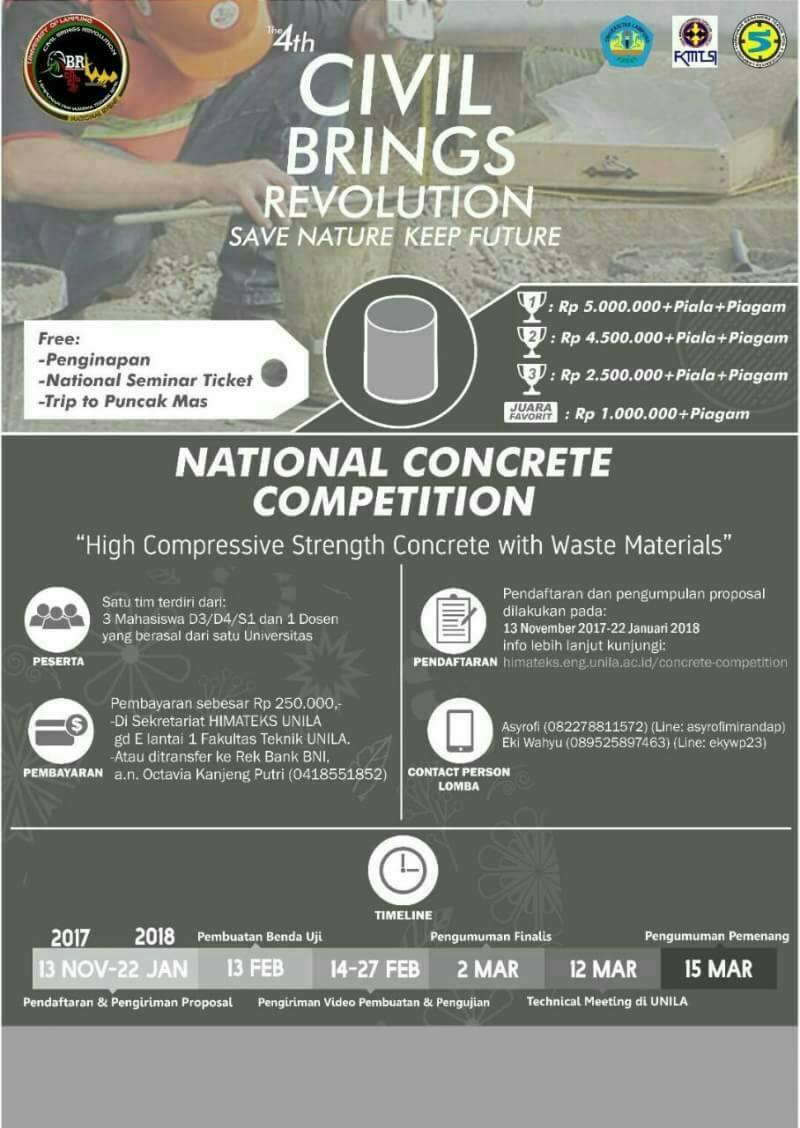 Lomba Beton Nasional 2018 Universitas Lampung