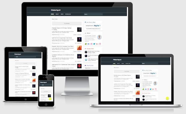 Materispot v2 Responsive Material Design Blogger Template