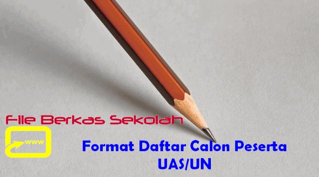 Format Daftar Calon Peserta UAS/UN