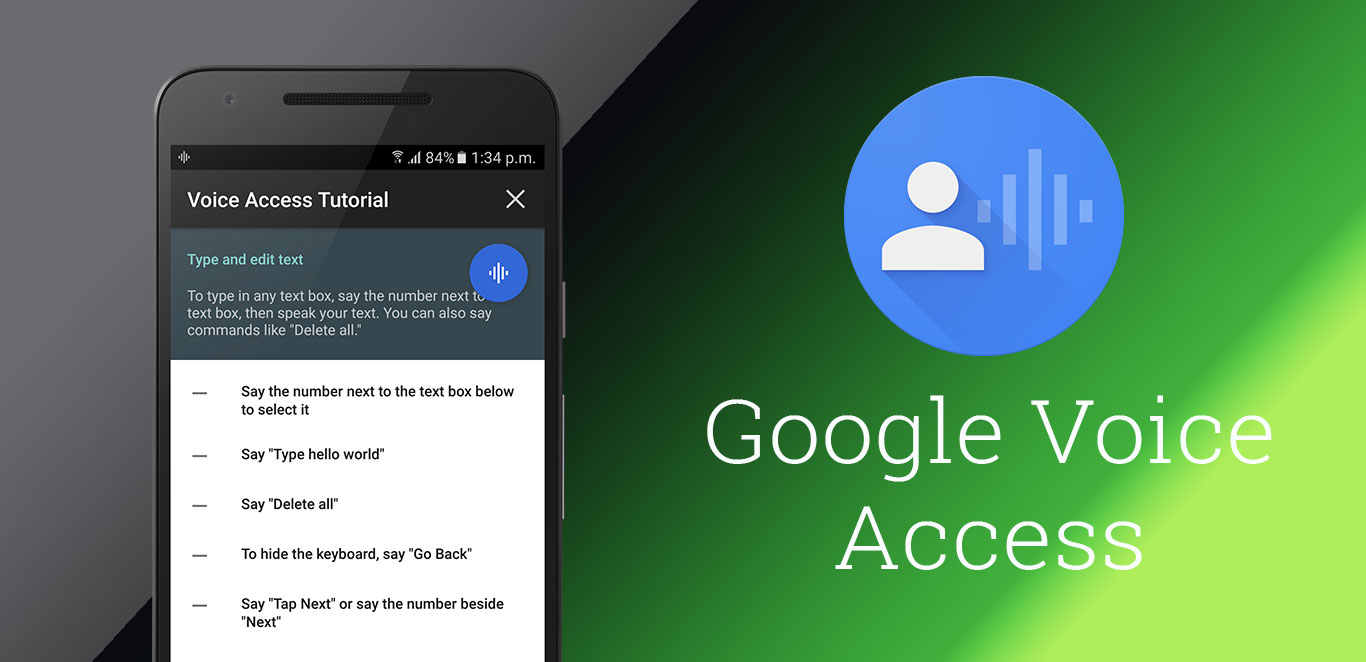 How to Control your Android Phone by Voice Access App
