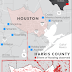Striking before and after satellite images reveal extent of damage from historic Harvey flooding