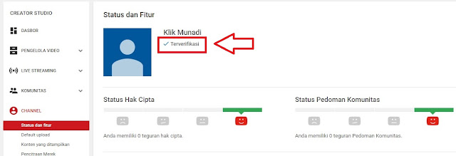 Channel Terverifikasi