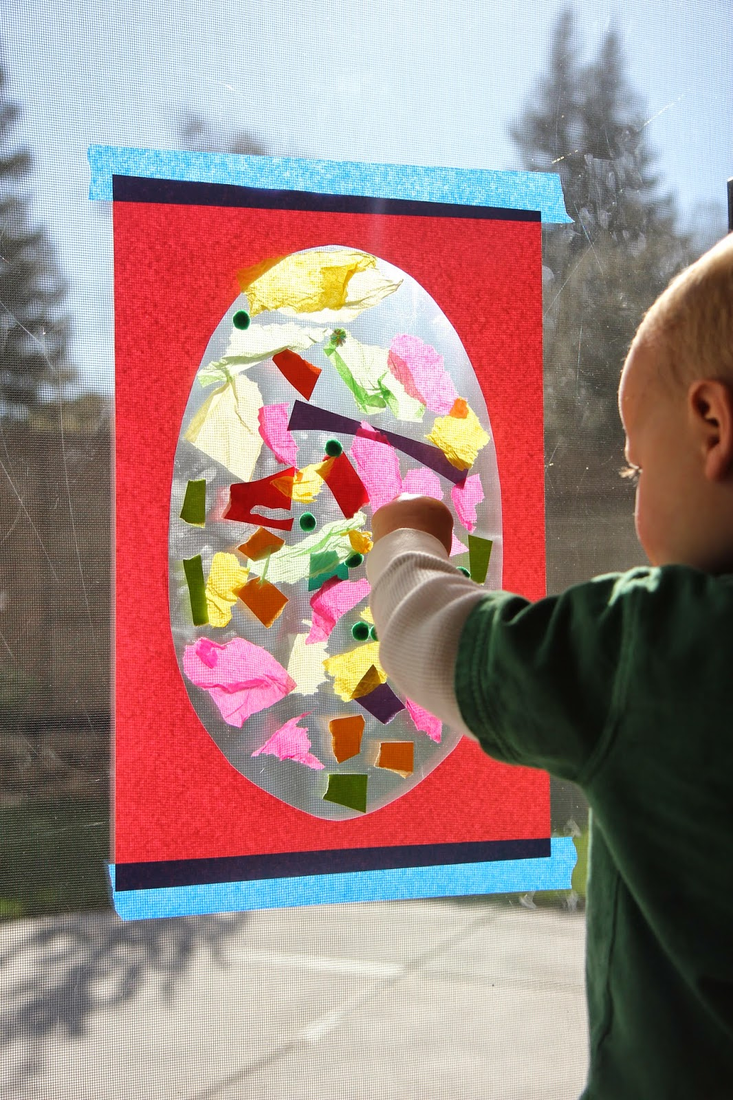 Toddler Approved Sticky Easter Egg For Toddlers