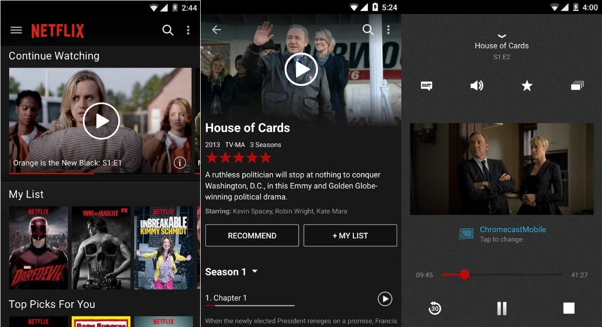 Netflix For Android APK - Screenshots