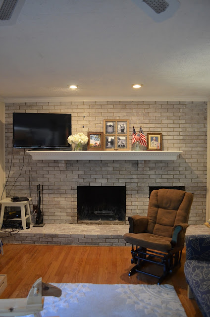 Whitewashed dark brick