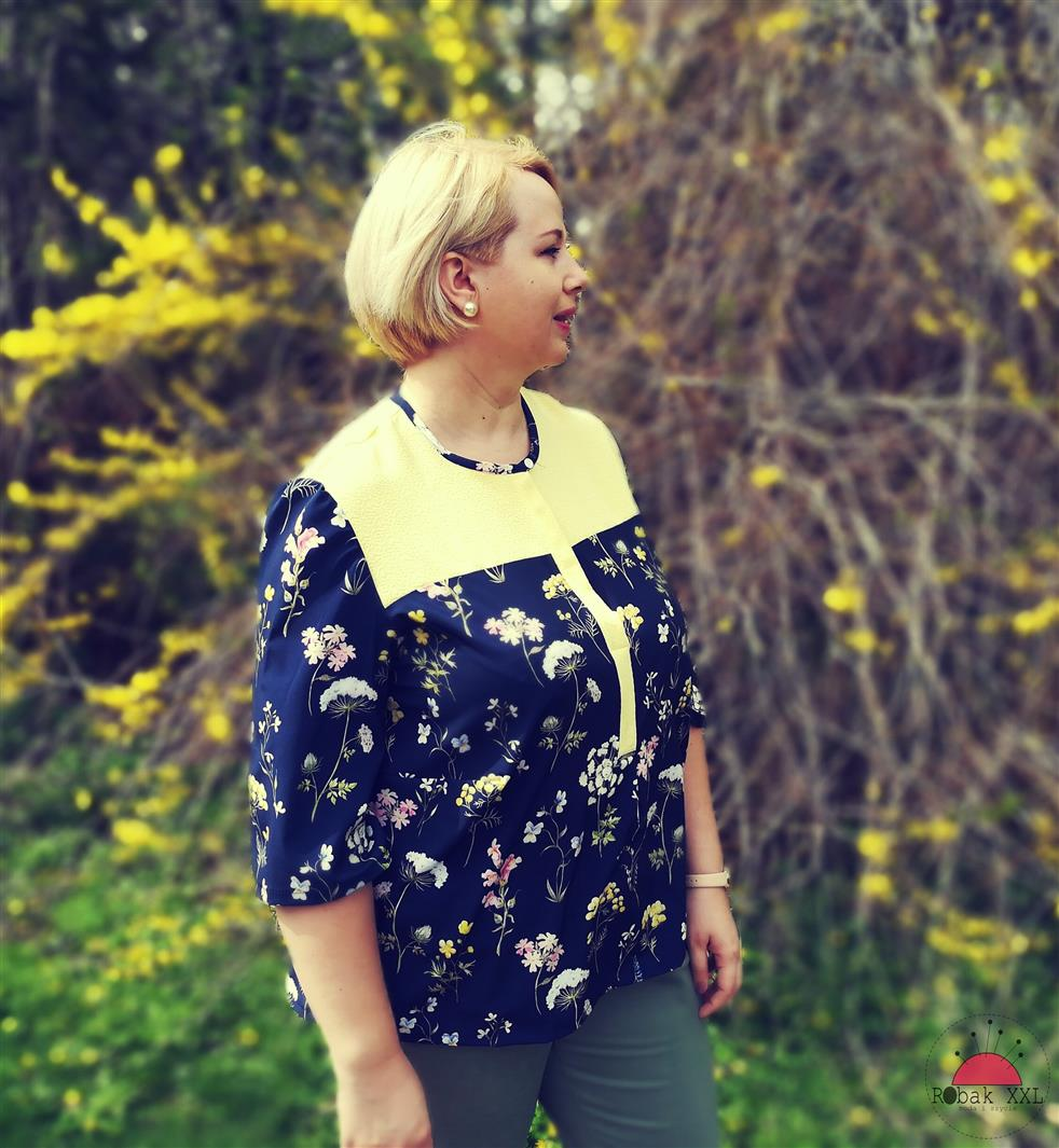 Wiosna! Słoneczna bluzka z silky