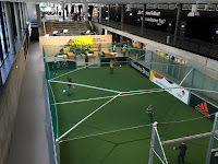 Bolzplatz zum Fußballspielen im Museum des Deutschen Fußball Bundes in Dortmund