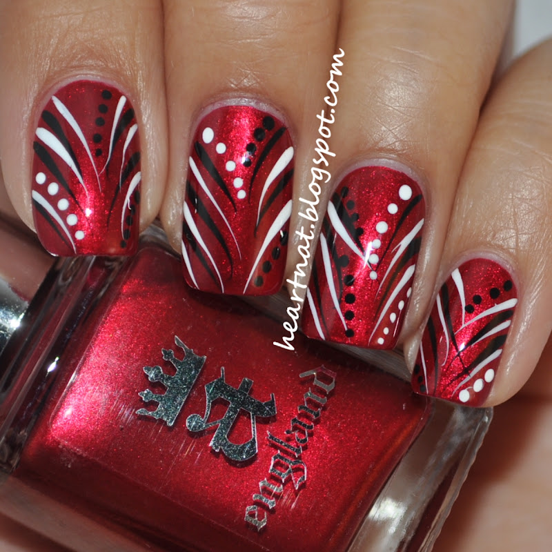 heartnat: A England Perceval and Freehand Nail Art